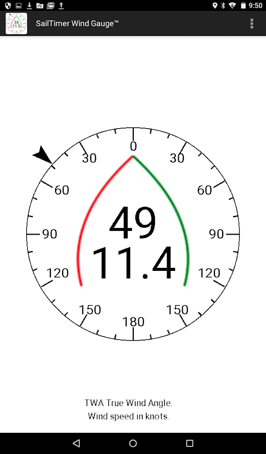 SailTimer Wind Gauge™- screenshot
