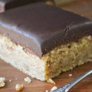 Peanut Butter Snack Cake with Chocolate Ganache