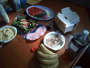 Photo: 二日目の朝食。 「スイスチャード」は生でサラダに
