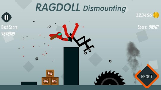 Ragdoll Dismounting 1.55 MOD + APK + DATA Download 3