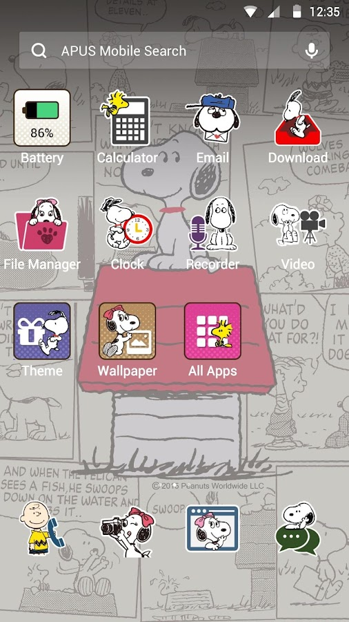 Snoopy theme for APUS- screenshot