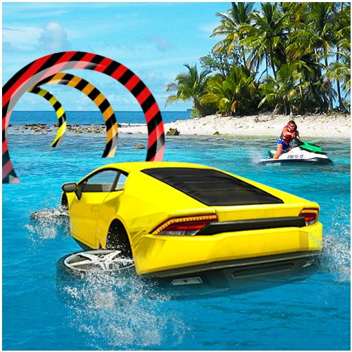 Water Car Surfer Driving 3D