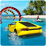 Water Car Surfer Driving 3D Icon