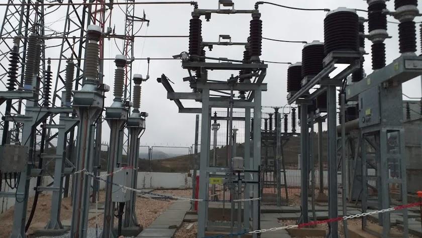 Subestación eléctrica de Endesa en Los Vélez. Fotografía remitida por Endesa.
