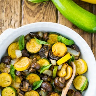 Grilled Zucchini and Mushrooms.