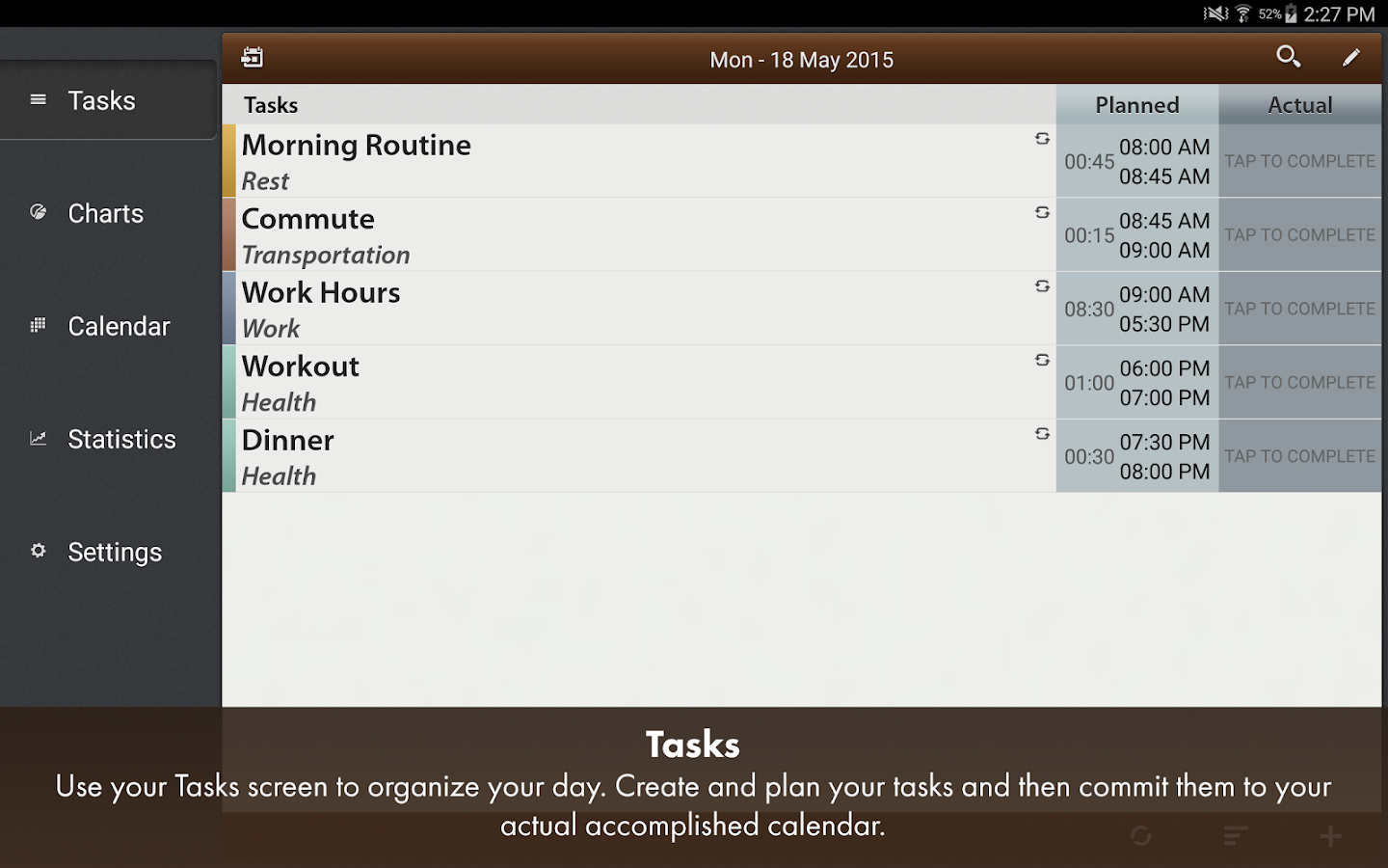 Schedule Planner Classic- screenshot
