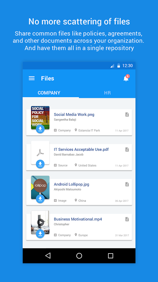 Zoho People- screenshot