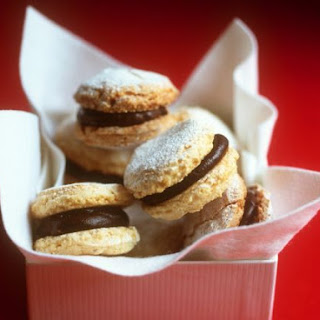 Chocolate Hazlenut Sandwich Cookies.