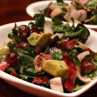 Watercress- Grape Salad with Creamy Cabernet Dressing Recipe