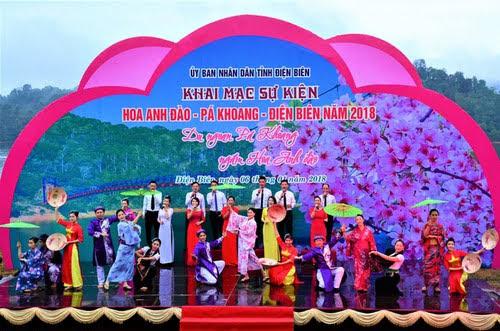 Hồ Pa Khoang, khai mạc sự kiện hoa anh đào
