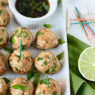 Asian Turkey Meatballs with Sesame-Soy Dipping Sauce.