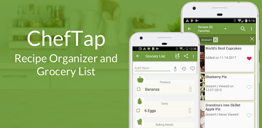 cheftap recipes grocery list apps on google play