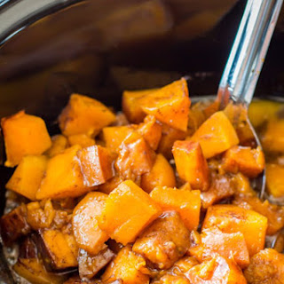 Slow Cooker Cinnamon Sugar Butternut Squash