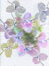 Photo: 3/17/2012 Pink magnolia. Foam print acrylic on tissue.