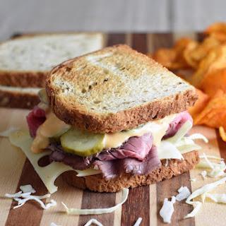 Roast Beef Style Reuben Sandwich.