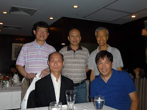Photo: Cheung Wai Sun & Low Cheung, Siu Chu, Lam Chai & AH Mou at the September 21 dinner