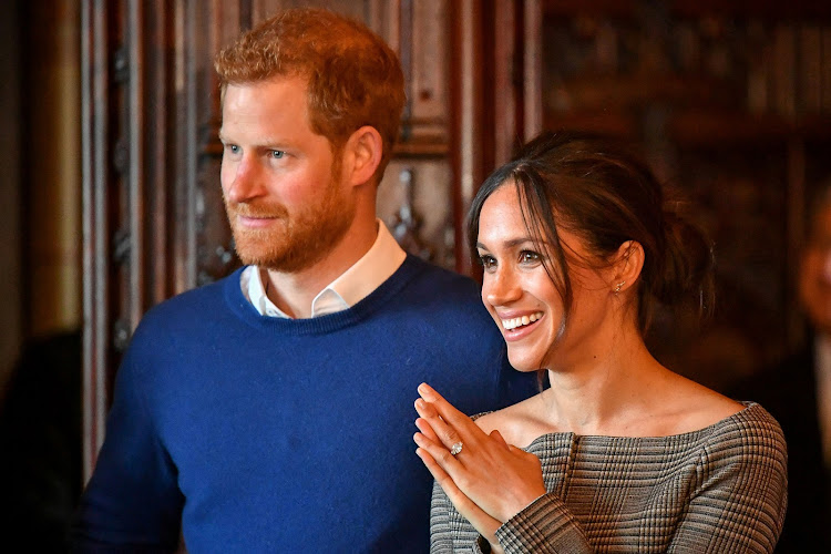 Britain's Prince Harry and his fiancee Meghan Markle. File photo.