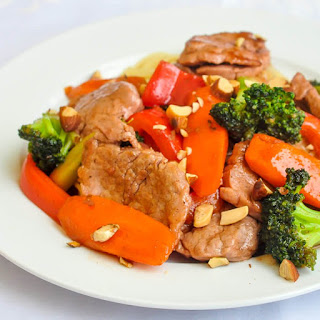 Stir Fried Chinese Pork Tenderloin.