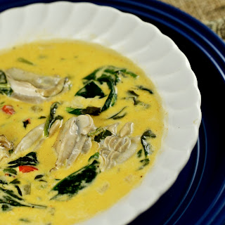 Creole Oyster and Spinach Soup.