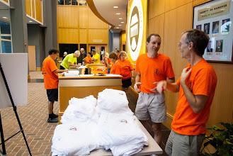 Photo: Steve Herzog and Richard Halle had T shirt duty
