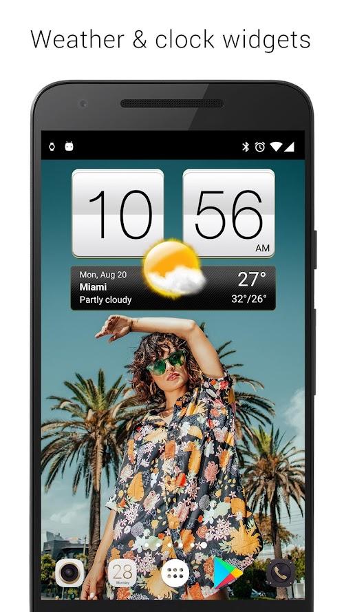 Screenshot 1 Sense V2 Flip Clock & Weather 4.41.02 APK PAID
