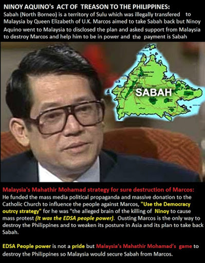DFA: NINOY AQUINO BETRAYED the Philippines- SOLD SABAH  to Malaysia for POWER Ambition