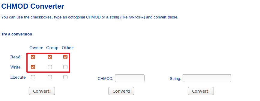 Test Convert! Chmod