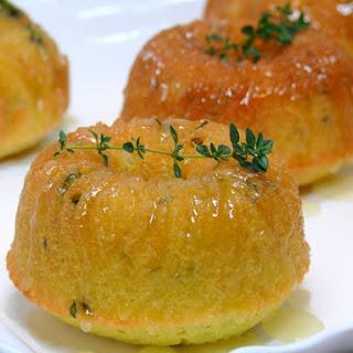 Mini Lemon-Thyme Pound-Bundt Cakes with Lemon-Thyme Glaze.