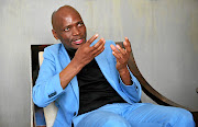 Former SABC boss Hlaudi Motsoeneng during the interview at  his Krugersdorp home.