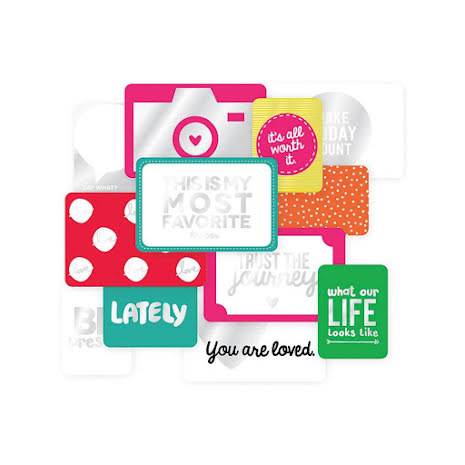 Project Life Specialty Foil Card Pack 12/Pkg - Confetti Edition UTGÅENDE