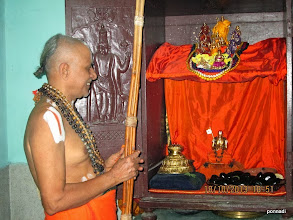 Photo: yathirAja jIyar with his thiruvArAdhanam emperumAns