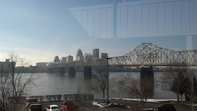 Photo: the view from our hotel in Louisville