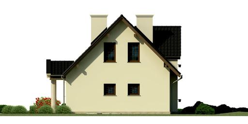 Dom przy Polnej - Elewacja prawa