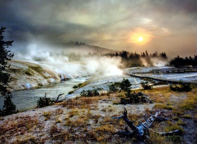"""People's Choice Award:  """"Sunrise in Yellowstone"""" Photograph by Gordon Kummer"""
