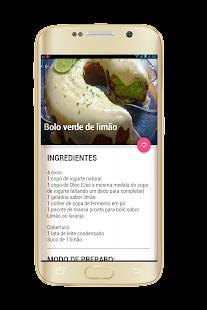 Receitas de Bolo e sobremesas - náhled