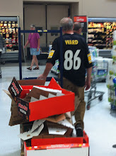 Photo: Check it out - even the Walmart employees were in Steelers spirit this Sunday!