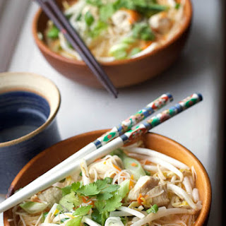 Coconut Chicken & Rice Noodle Bowl