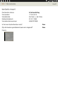 Anderzorg Declaratie-App - screenshot thumbnail