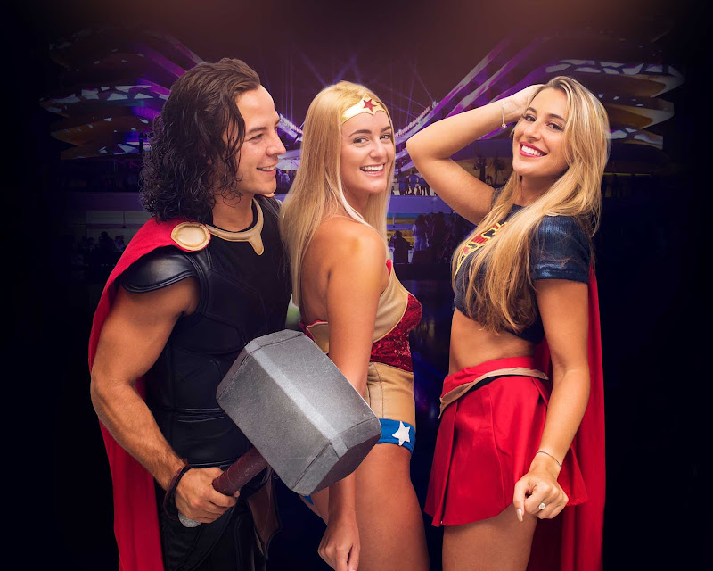 On Mondays guests can transform themselves into their favorite superheroes as part of the themed evening at Temptation Cancun Resort.