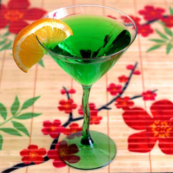 Honeydew Martini, a Midori and Vodka Drink