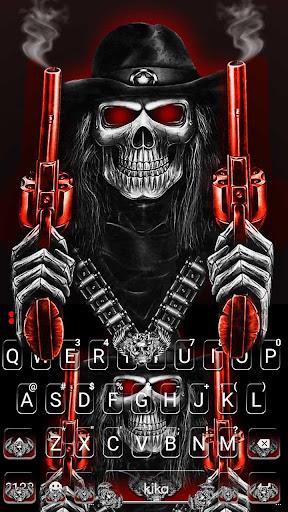 Skull Fire Guns Keyboard Theme 1.0 screenshots 4