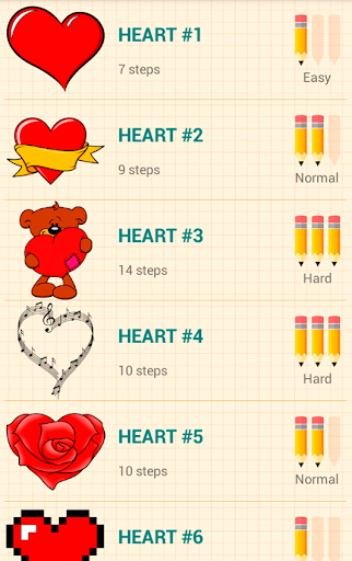 How to Draw Love Hearts