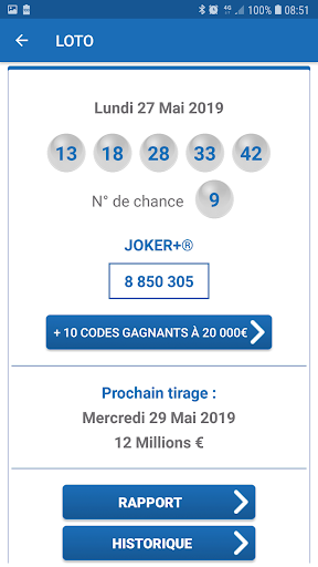 Ru00e9sultat Loto France 1.6 screenshots 2