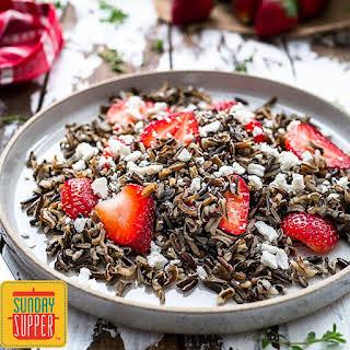 Wild Rice Salad with Strawberries.