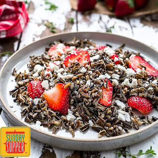 Wild Rice Salad with Strawberries.