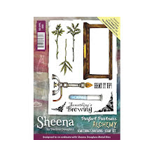 Sheena Douglass Perfect Partner Alchemy A6 Stamp Set - Something´s Brewing UTGÅE