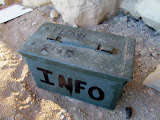 Photo: Box containing info about the Elk Mountain Mission