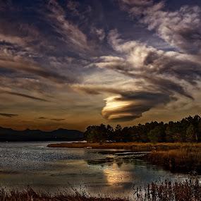 Corsica by Joseph Balson - Landscapes Cloud Formations ( clouds, sky, corsica, cloud, lake, landscape,  )