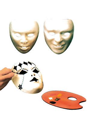 Ansiktsmask, vit barn