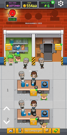 Idle Factory Tycoon: Cash Manager Empire Simulator (Mod Mone